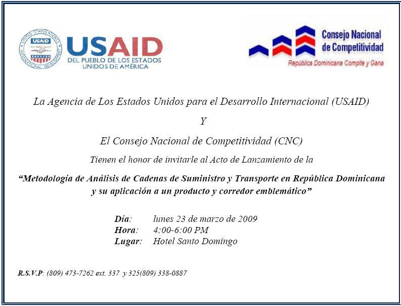 Invitacion Reunión Transporte y Corredores