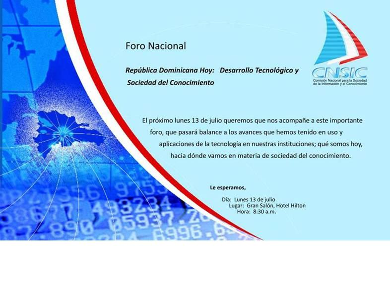 Foro Nacional CNSIC