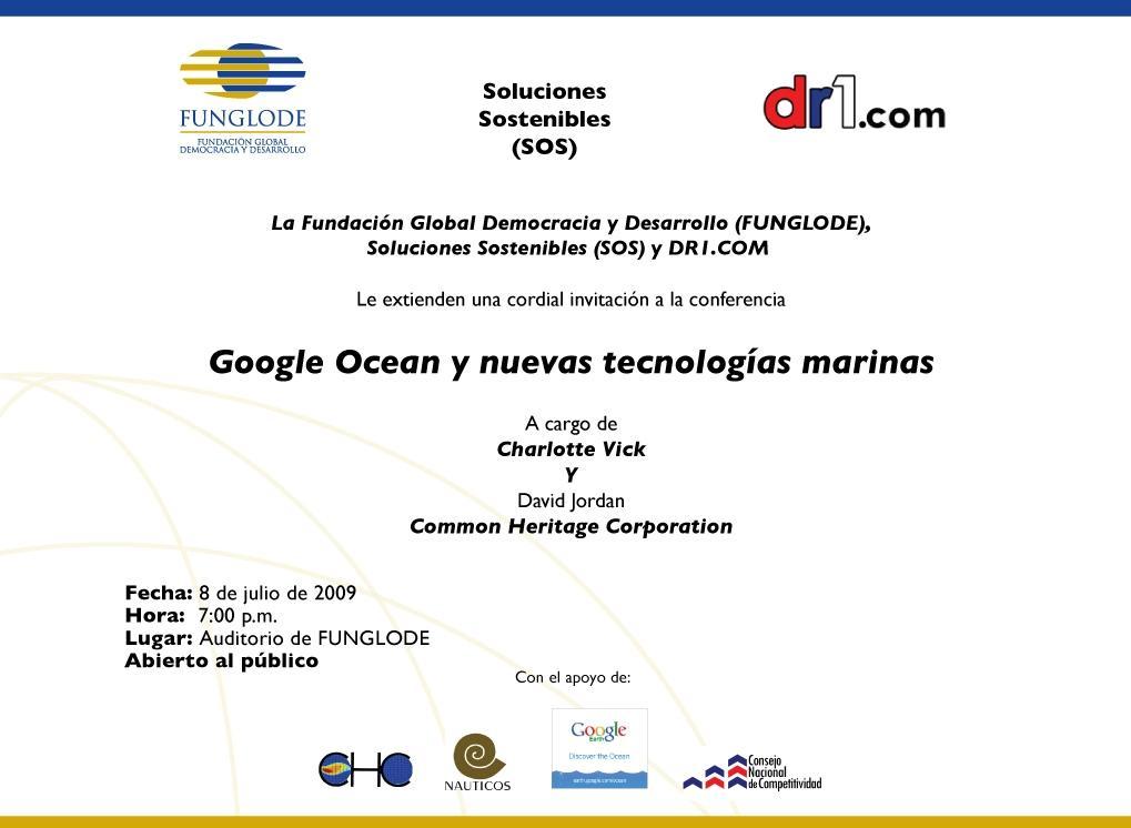 Conferencia Google Ocean y nuevas tecnologías marinas