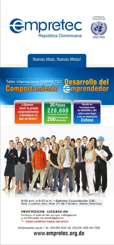taller internacional empretec desarrollo del