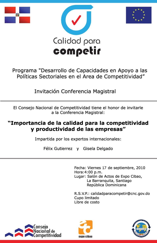conferencia magistral en expo cibao 2010 observatorio de competitividad