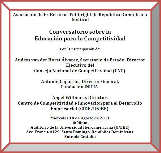 Conversatorio sobre la Educación para la Competitividad
