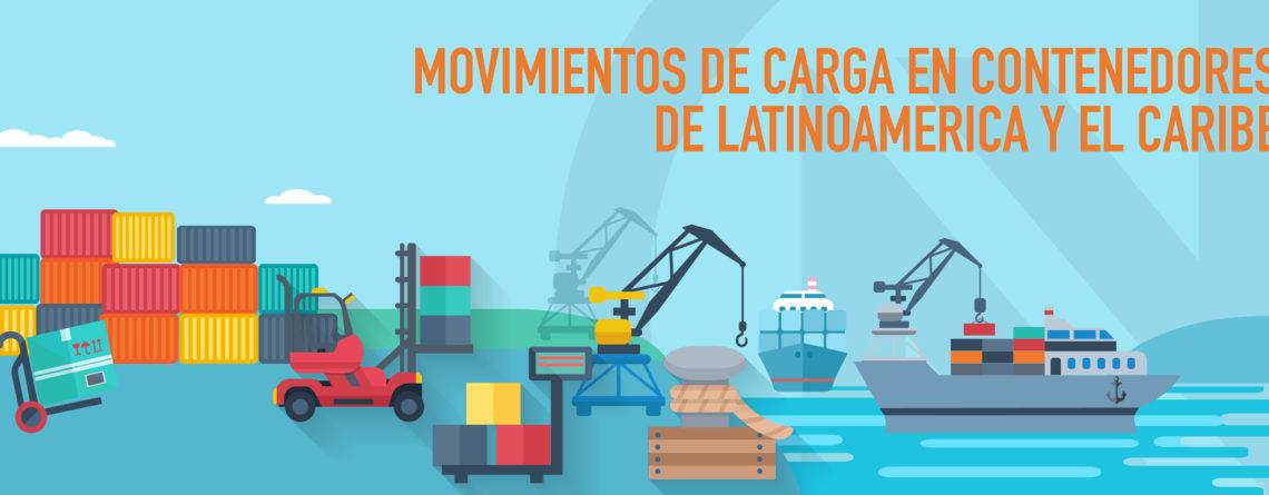 Movimientos de Carga en Contenedores de Latinoamérica y el Caribe.